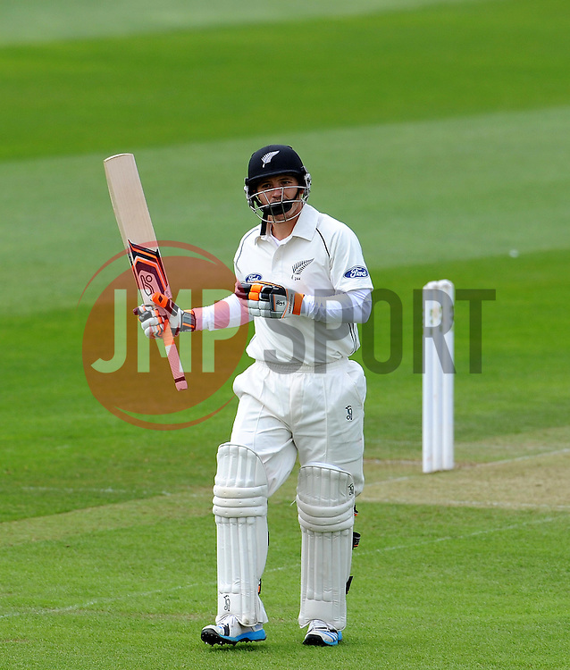 Somerset's Tim Groenewald celebrates the wicket of New Zealand's BJ Watling Photo mandatory by-line: Harry Trump/JMP - Mobile: 07966 386802 - 09/05/15 - SPORT - CRICKET - Somerset v New Zealand - Day 2- The County Ground, Taunton, England.