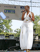 Stephanie Cooke performs during the 10th Annual Liberty State Park Music Festival in Newark, New Jersey on July 25, 2015.