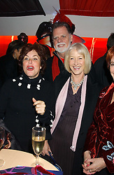Left to right, RUBY WAX, DAME HELEN MIRREN and TAYLOR HACKFORD at the press night of Cirque Du Soleil's 'Alegria' held at the Royal Albert, London on 5th January 2006.<br /><br />NON EXCLUSIVE - WORLD RIGHTS