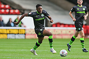 Forest Green Rovers Ebou Adams(14) runs forward during the EFL Sky Bet League 2 match between Walsall and Forest Green Rovers at the Banks's Stadium, Walsall, England on 10 August 2019.