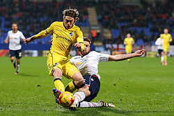Luke James of Bristol Rovers and Mark Beevers of Bolton Wanderers - Mandatory by-line: Matt McNulty/JMP - 28/02/2017 - FOOTBALL - Macron Stadium - Bolton, England - Bolton Wanderers v Bristol Rovers - Sky Bet League One