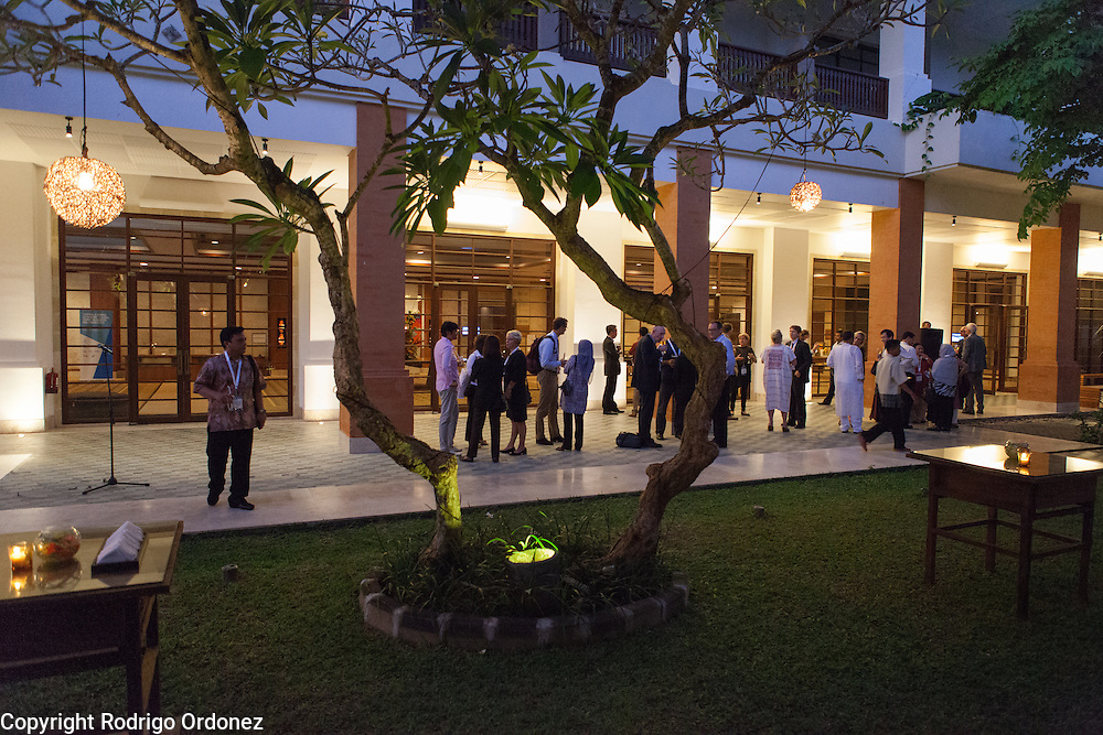 Participants interact and network during an evening reception at the global summit on diabetes and tuberculosis in Bali, Indonesia, on November 2, 2015.<br /> The increasing interaction of TB and diabetes is projected to become a major public health issue.&nbsp;The summit gathered a hundred public health officials, leading researchers, civil society representatives and business and technology leaders, who committed to take action to stop this double threat. (Photo: Rodrigo Ordonez for The Union)
