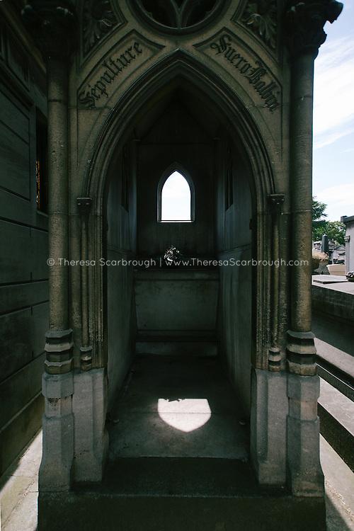 Mausoleum at a european cemetery