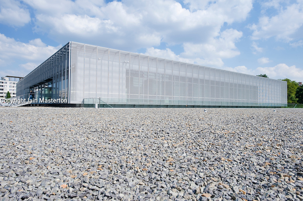 New exhibition center at Topographie des Terrors the site of former Gestapo police headquarters in Berlin Germany