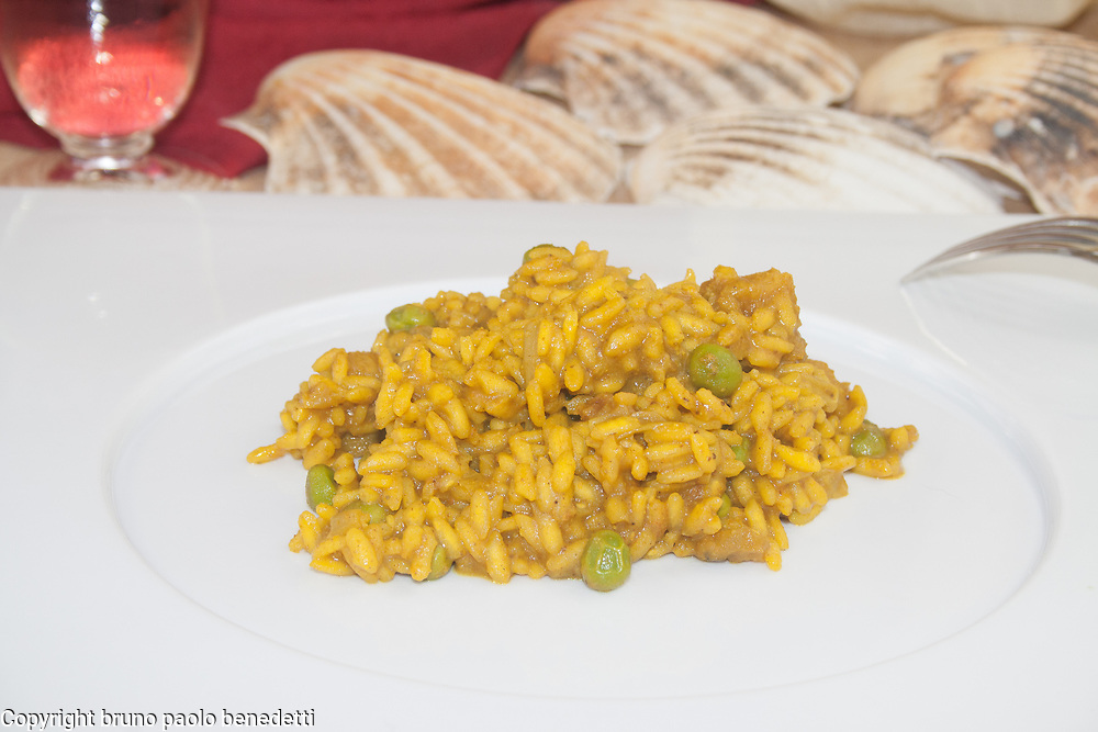 risotto curry e pescatrice