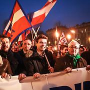 Torino 11/01/2014  Fiaccolata promossa dalla Lega Nord per protestare contro la sentenza del Tar di ieri che ha annullato le elezioni regionali del 2010 che decretarono la vittoria di Roberto Cota e della maggioranza di centrodestra.