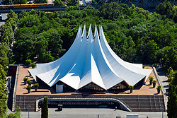 Exterior view of Tempodrom theatre in Berlin, Germany.