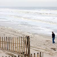 Hurricane Ida beach erosion, Lavalette, NJ.