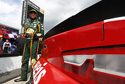 June 1, 2018 - Long Pond, Pennsylvania, United States of America - Darrell Wallace, Jr (43) hangs out on pit road prior to qualifying for the Pocono 400 at Pocono Raceway in Long Pond, Pennsylvania. (Credit Image: © Justin R. Noe Asp Inc/ASP via ZUMA Wire)