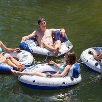 Floating the Boise River shoot for Admissions Viewbook, Allison Corona photo