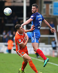 Andrew Hughes of Peterborough United beats James Bolton of Shrewsbury Town to the ball in the air - Mandatory by-line: Joe Dent/JMP - 28/10/2017 - FOOTBALL - ABAX Stadium - Peterborough, England - Peterborough United v Shrewsbury Town - Sky Bet League One