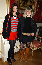 Left to right, LEAH WOOD and her mother JO WOOD at a fashion show featuring the Miss Selfridge Autumn/Winter '05 collections held at The Wallace Collection, Manchester Square, London W1 on 6th April 2005.<br /><br />NON EXCLUSIVE - WORLD RIGHTS