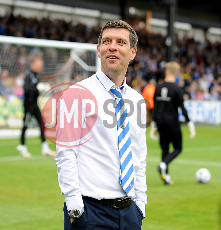 Bristol Rovers Manager, Darrell Clarke - Photo mandatory by-line: Neil Brookman/JMP - Mobile: 07966 386802 - 03/05/2015 - SPORT - Football - Bristol - Memorial Stadium - Bristol Rovers v Forest Green Rovers - Vanarama Football Conference
