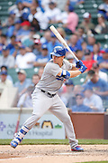 CHICAGO, IL - JUNE 25: Joc Pederson #31 of the Los Angeles Dodgers bats during the game against the Chicago Cubs at Wrigley Field on June 25, 2015 in Chicago, Illinois. The Dodgers defeated the Cubs 4-0. (Photo by Joe Robbins) *** Local Caption *** Joc Pederson