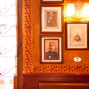 The nostalgic memory of war lingers on the walls of Chez, Mamie, a restaurant serving traditional French cusine.