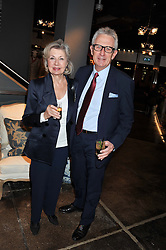 Writer ROBERT LACEY and his wife LADY JANE LACEY at a party to celebrate the publication of Folly de Grandeur: Romance and Revival in an English Country House by Nicky Haslam held at Oka, 155-167 Fulham Road, London on 21st March 2013.