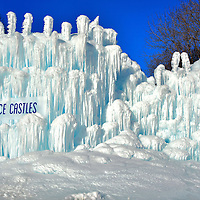 Winter Ice Castle in Eden Prairie, Minnesota<br />