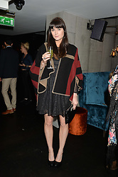 LILAH PARSONS at a dinner to celebrate London Fashion Week SS 2015 and the opening of Ramusake at 92 Old Brompton Road, London on 15th September 2014.