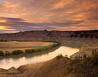 Evening over Upper Missouri River Breaks National Monument, Montana USA