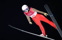 February 12, 2018 - Pyeongchang, SOUTH KOREA - 180212 Lea Lemare of France competes in Ski Jumping, Women's Normal Hill Individual Final, during day three of the 2018 Winter Olympics on February 12, 2018 in Pyeongchang..Photo: Joel Marklund / BILDBYRN / kod JM / 87619 (Credit Image: © Joel Marklund/Bildbyran via ZUMA Press)