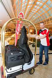 28.01.2014,  Marriott, Wien, AUT, Sochi 2014, Einkleidung OeOC, im Bild Klaus Kröll (Ski Alpin, AUT) // Klaus Kröll (Ski Alpine, AUT)<br />  during the outfitting of the Austrian National Olympic Committee for Sochi 2014 at the  Marriott in Vienna, Austria on 2014/01/28. EXPA Pictures © 2014, PhotoCredit: EXPA/ JFK