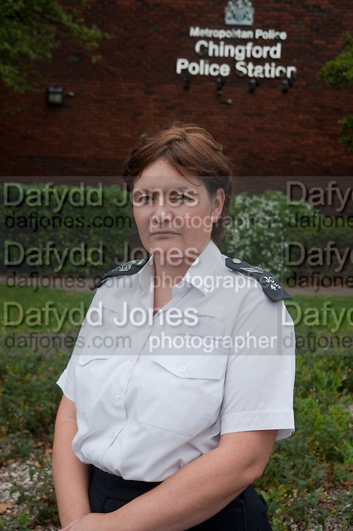 Fiona McCabe. Chingford Police Station. London. 14 September 2010. -DO NOT ARCHIVE-© Copyright Photograph by Dafydd Jones. 248 Clapham Rd. London SW9 0PZ. Tel 0207 820 0771. www.dafjones.com.