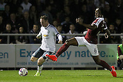 Wayne Rooney Forward of Manchester United takes on Northampton Town defender Gabriel Zakuani (6) during the EFL Cup Third Round match between Northampton Town and Manchester United at Sixfields Stadium, Northampton, England on 21 September 2016. Photo by Phil Duncan.