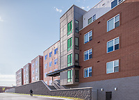 Exterior image of 2321 4th Street Apartments in Washington DC by Jeffrey Sauers of Commercial Photographics, Architectural Photo Artistry in Washington DC, Virginia to Florida and PA to New England