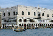 Gondola on the canal near Piazza San Marco in Venice, Italy