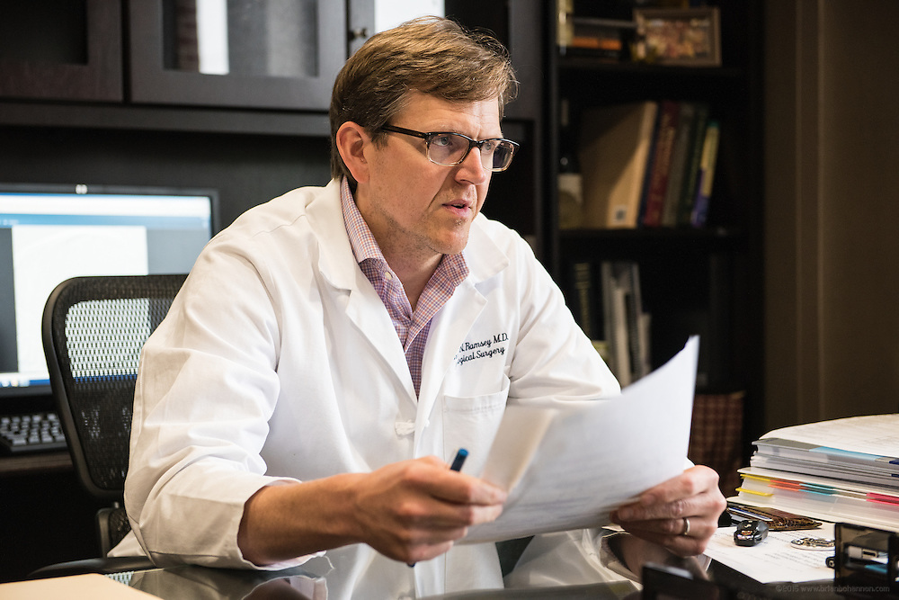 Neurosurgeon Christian N. Ramsey, MD, FAANS, photographed Thursday, May 21, 2015 at Baptist Health in Lexington, Ky. (Photo by Brian Bohannon/Videobred for Baptist Health)