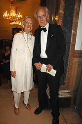 The HON.GEORGE BRUCE and his wife JEANNE BRUCE at a gala dinner for the Theatre Royal Bury St.Edmunds to celebrate the near completion of the restoration of the Grade 1 listed theatre, held at the Royal Academy, Piccadilly, London on 9th July 2007.<br /><br />NON EXCLUSIVE - WORLD RIGHTS