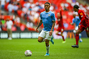 Manchester City striker Gabriel Jesus (33) on the ball during the FA Community Shield match between Manchester City and Liverpool at Wembley Stadium, London, England on 4 August 2019.