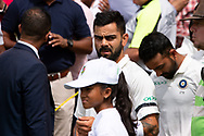 Indian player Virat Kohli before the game at the 4th Cricket Test Match between Australia and India at The Sydney Cricket Ground in Sydney, Australia on 03 January 2019.