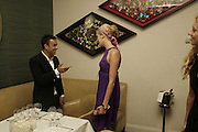 Francisco Costa and Maggie Grace,  Natalia Vodianova and Elle Macpherson host a dinner in honor of Francisco Costa (creative Director for women) and Italo Zucchelli (creative director for men)  of Calvin Klein. Locanda Locatelli, 8 Seymour St. London W1. ONE TIME USE ONLY - DO NOT ARCHIVE  © Copyright Photograph by Dafydd Jones 66 Stockwell Park Rd. London SW9 0DA Tel 020 7733 0108 www.dafjones.com