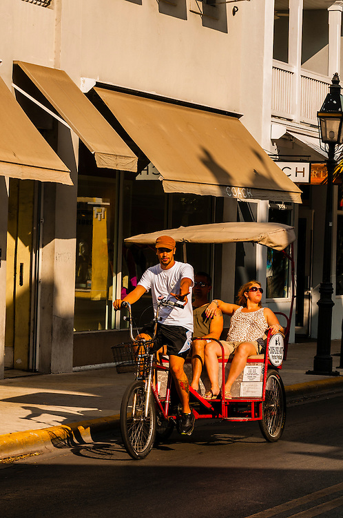 Pedicab, Duval Street, Key West, Florida Keys, Florida USA