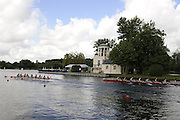 Henley, GREAT BRITAIN, GV of the Temple Island and the regatta course, Princes Elizabeth Challenge Cup, Berks. station, Scotch College, AUSTRALIA  2008 Henley Royal Regatta, on  Friday, 04/07/2008,  Henley on Thames. ENGLAND. [Mandatory Credit:  Peter SPURRIER / Intersport Images] Rowing Courses, Henley Reach, Henley, ENGLAND . HRR