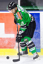08.10.2013, Hala Tivoli, Ljubljana, SLO, EBEL, HDD Olimpija Ljubljana vs UPC Vienna Capitals, 18.Runde, im Bild Damjan Dervaric (HDD Olimpija, #23) // during the Erste Bank Icehockey League 18th Game Day match between HDD Telemach Olimpija Ljubljana and UPC Vienna Capitals at the Hala Tivoli, Ljubljana, Slovenia on 2013/10/08. EXPA Pictures © 2013, PhotoCredit: EXPA/ Sportida/ Matic Klansek Velej<br /> <br /> ***** ATTENTION - OUT OF SLO *****