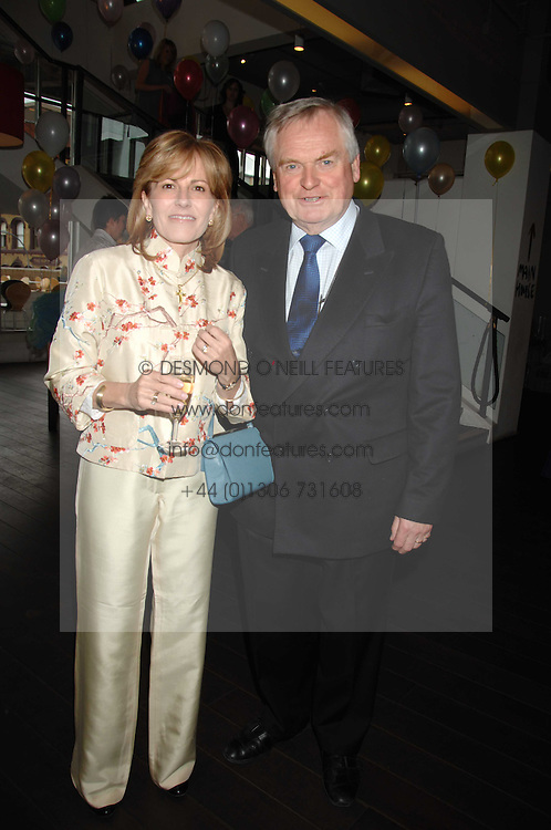 SANDY &amp; CAROLINE ORR he is chairman of the board at the Lyric and Executive Chairman - City Inn Ltd at a pre show reception to celebrate the 50th anniversary of the play 'The Birthday Party' held at the Lyric Theatre, Kings Street, Hammersmith, London on 19th May 2008.<br />