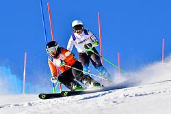 PERRINE Melissa, Guide: KELLY Bobbi, B2, AUS, Slalom at the WPAS_2019 Alpine Skiing World Cup, La Molina, Spain