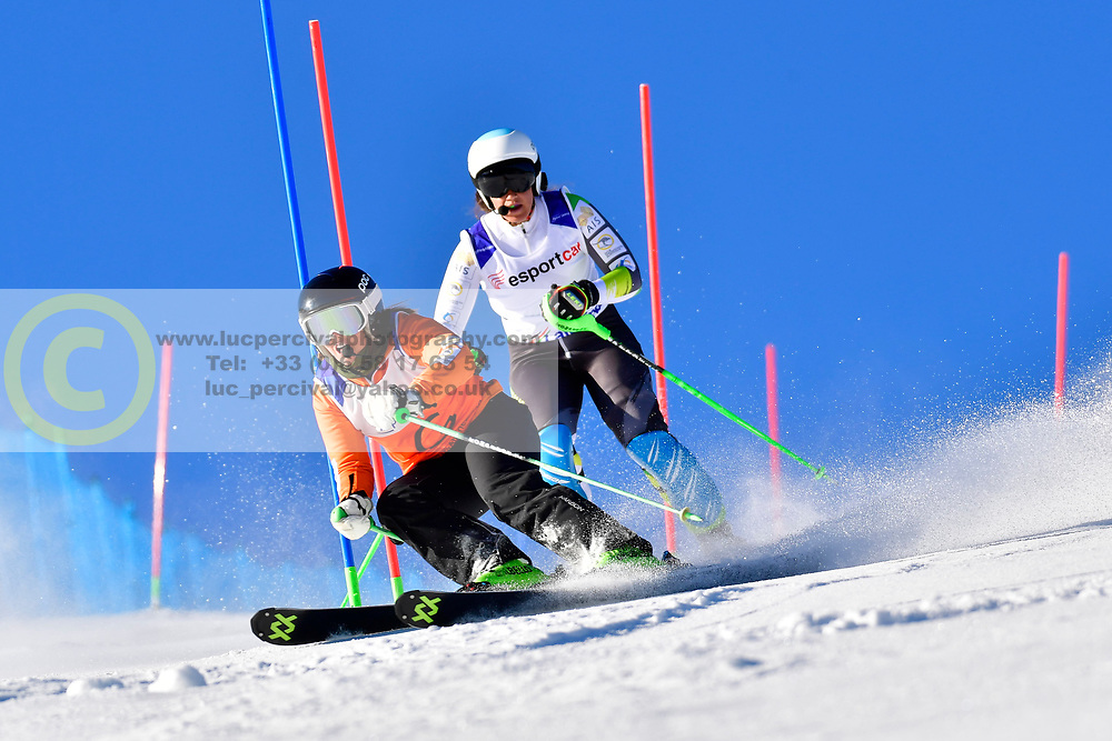 PERRINE Melissa, Guide: KELLY Bobbi, B2, AUS, Slalom at the WPAS_2019 Alpine Skiing World Cup, La Molina, Spain