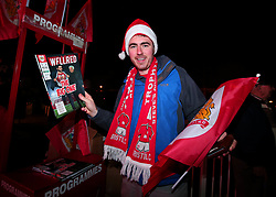 Bristol City fan with programme and flag - Mandatory by-line: Robbie Stephenson/JMP - 20/12/2017 - FOOTBALL - Ashton Gate Stadium - Bristol, England - Bristol City v Manchester United - Carabao Cup Quarter Final