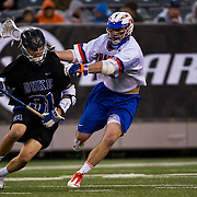 April 01,  2012:  Duke attack Jordan Wolf (31) moves upfield against Syracuse during the Big City Classic at  Met Life Stadium in East Rutherford, New Jersey . Duke defeated Syracuse 12-10. (Credit Image: © Kostas Lymperopoulos/Cal Sport Media)