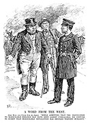"A Word from the West. John Bull and Uncle Sam (to Japan). ""While admitting that the provocation to honourable feelings may have been almost unbearable, we venture to submit that honourable retaliation has shocked western humanity."""
