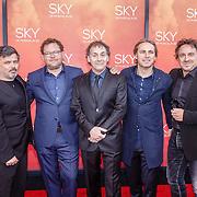 NLD/Amsterdam/20160403 - Premiere musical Sky, Producenten Piotr Sikora, Kees Abrahams, Robin de Levita, John Ewbank en Marco Borsato