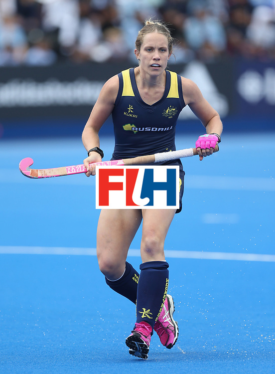 LONDON, ENGLAND - JUNE 21:  Edwina Bone of Australia during the FIH Women's Hockey Champions Trophy match between Australia and Argentina at Queen Elizabeth Olympic Park on June 21, 2016 in London, England.  (Photo by Alex Morton/Getty Images)