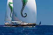 Axia sailing in the St. Barth's Bucket Regatta.