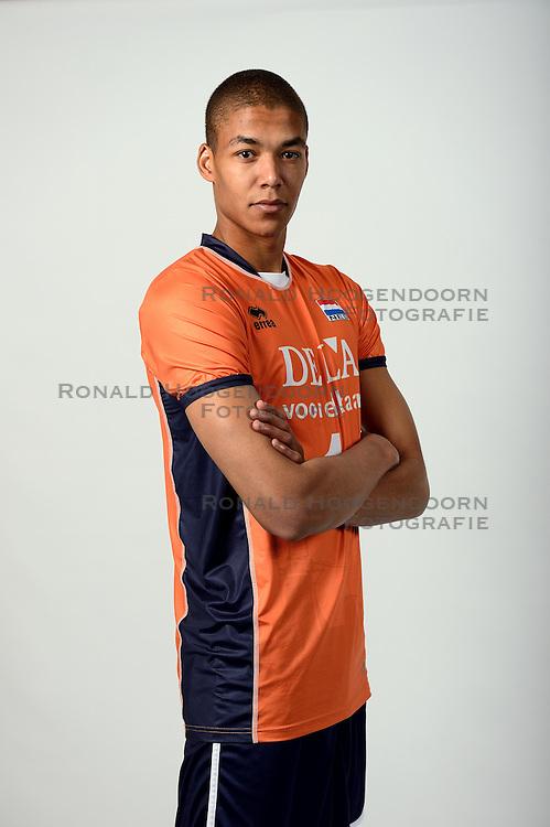 13-05-2014 NED: Selectie Nederlands volleybal team mannen, Arnhem<br /> Op Papendal werd het Nederlands team volleybal seizoen 2014-2015 gepresenteerd / Nimir Abdelaziz