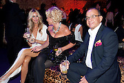 MELISSA ODABASH; AMANDA ELIASCH; TOUKER SULEYMAN, Dinner and party  to celebrate the launch of the new Cavalli Store at the Battersea Power station. London. 17 September 2011. <br /> <br />  , -DO NOT ARCHIVE-© Copyright Photograph by Dafydd Jones. 248 Clapham Rd. London SW9 0PZ. Tel 0207 820 0771. www.dafjones.com.