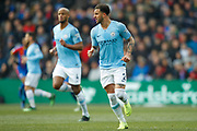 Manchester City defender Kyle Walker (2) and Manchester City defender Vincent Kompany (4) during the Premier League match between Crystal Palace and Manchester City at Selhurst Park, London, England on 14 April 2019.