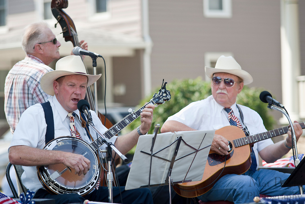 A bluegrass group performs at the Pitman NJ annual 4th of July parade held on Monday July 5th, 2010.